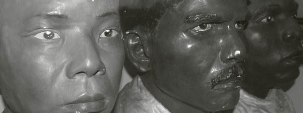 Calchi facciali in gesso di diversa origine etnica