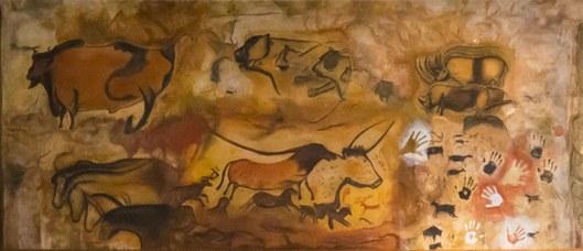 Riproduzione di parete paleolitica