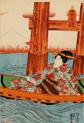 Utagawa Kuniyoshi: Shiki no uchi (Dalla serie delle quattro stagioni: autunno), 1843-1847
