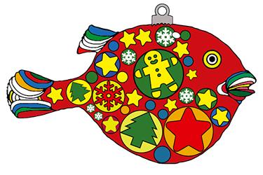 Disegno di pesce palla