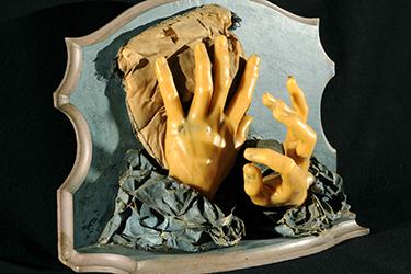 Modello di mani in cera di Anna Morandi