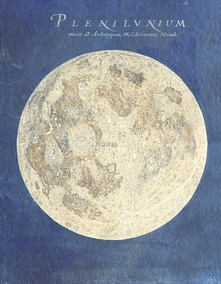 Disegno della luna piena di Maria Clara Eimmart