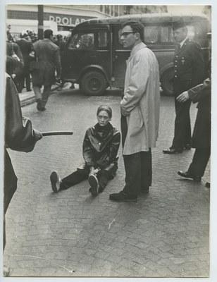 Fotografia delle contestazioni del maggio 68