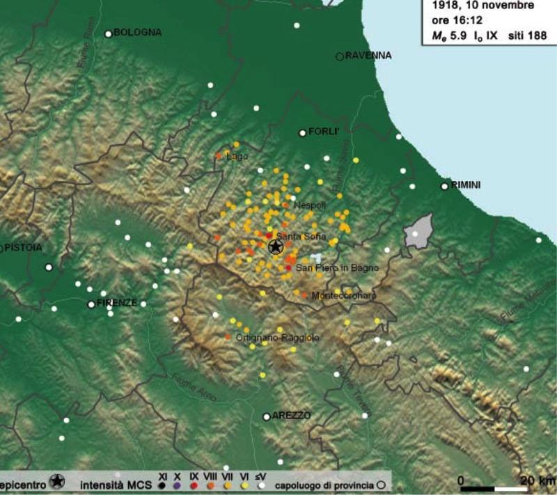 Mappa sismica romagna
