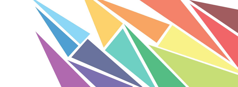 Banner con triangoli colorati SMA
