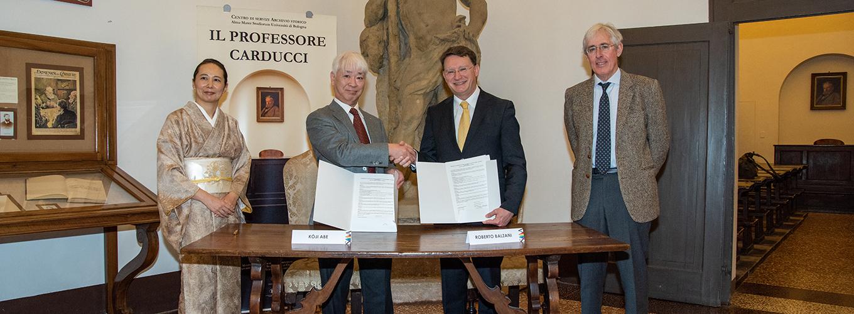 Firma della convenzione fra Sistema Museale di Ateneo e Yamagata University Museum